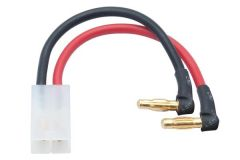LRP LiPo Hardcase adapter wire - 4mm male plug to Tamiya 90d, 65838