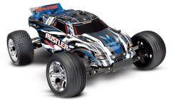 Traxxas Rustler XL-5 TQ (incl battery/charger), Blue, TRX37054-1B