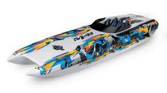 Traxxas DCB M41 Catamaran Race Boat TQi TSM, Orange, TRX57046-4O