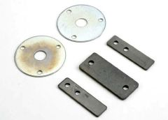 Diff gear side plates/ ball joint plate, TRX1234