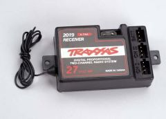 Receiver, 2-channel 27Mhz, without BEC (for use with electro, TRX2019