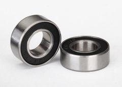 Ball bearings, black rubber sealed (7x14x5mm) (2), TRX5103A