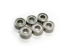 Ball bearings 4X9X4 6pcs YellowRC, YEL12217