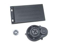 Battery door + motor gear cover, YEL12012