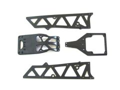 chassis side plates A + motor guard + servo cover, YEL12002