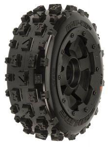 Bow-Tie Off-Road Tires Mounted on Black Desperado Front Whee, PR1150-13