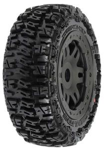 Trencher Off-Road Tires Mounted on Black Split Six Front Whe, PR1154-13