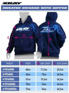 XRAY SWEATER HOODED WITH ZIPPER - BLUE (M), X395600M