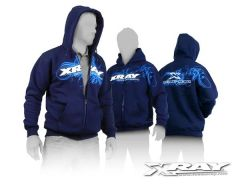 XRAY SWEATER HOODED WITH ZIPPER - BLUE (S), X395600S