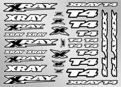 XRAY T4 STICKER FOR BODY - WHITE, X397326