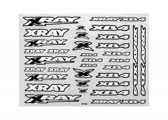 Xray XB4 Sticker For Body - White, X397380