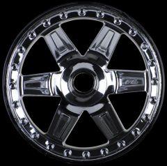 Desperado 2.8 (Traxxas Style Bead) Black Chrome Front Wheel, PR2728-11