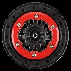 F-11 Red/Black Bead-Loc Whls (2) Slash 2wd Rr/4x4 F/R