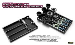 HUDY ALU TRAY FOR 1/10 OFF-ROAD DIFF ASSEMBLY, H109840