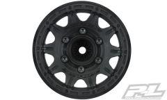 """Raid 2.8"""" Black 6x30 Removable Hex Wheels F/R"""