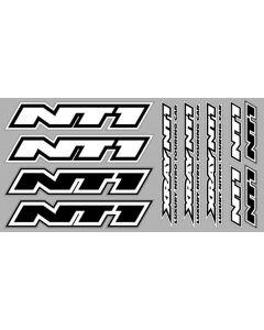 Xray NT1 Sticker For Body White Die-Cut, X397331