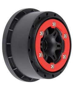 Split Six Red/Blk Bead-Loc Whls (2) Slash 2wd Front