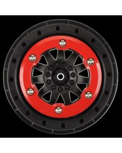 F-11 Red/Black Bead-Loc Whls (2) Slash 2wd Rr/4x4 F/R